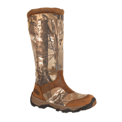 Rocky Mens Realtree Xtra Leather Retraction WP Snake Hunting Boots
