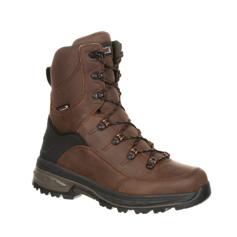 Rocky Mens Dark Brown Leather 200G Grizzly WP Hiking Boots