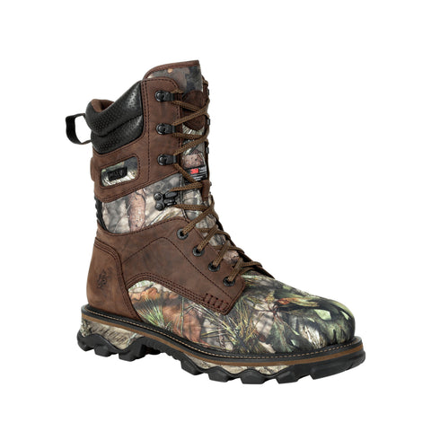 Rocky Mens Realtree Edge Leather Mtn Stalker WP 1400G Hunting Boots