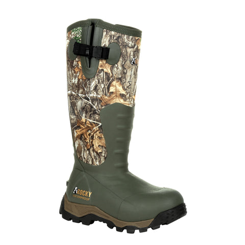 Rocky Womens Realtree Edge Rubber Sport Pro 1200G Outdoor Hunting Boots