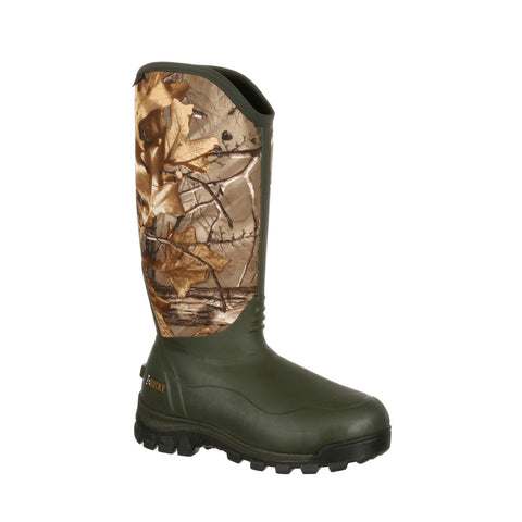 Rocky Core Mens Realtree Rubber Waterproof Neoprene Hunting Boots