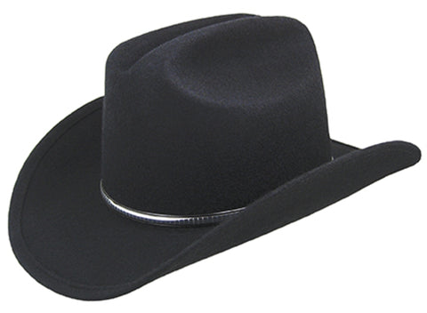 Eddy Bros Rowdy Black Unisex Kids Wool Western Hat Cattl