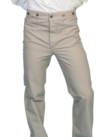Scully RangeWear Mens Sand 100% Cotton Notched Button Fly Canvas Pant