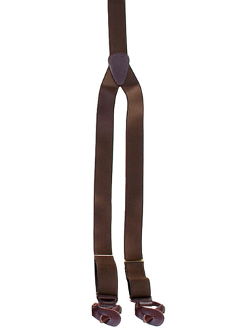 Scully Rangewear Mens Brown 100% Silk French Satin Suspenders