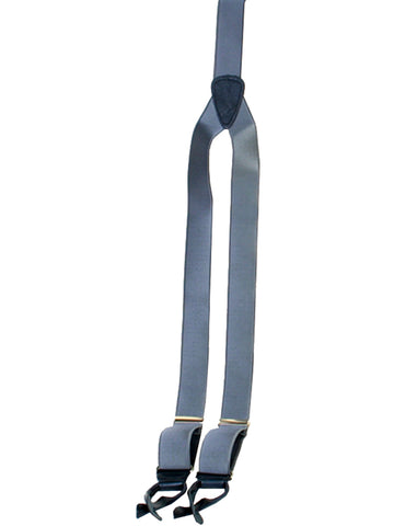 Scully Rangewear Mens Grey 100% Silk French Satin Suspenders