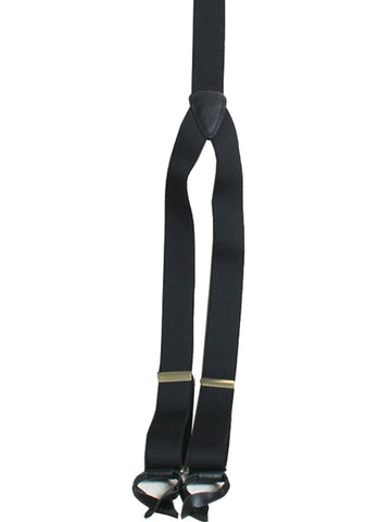 Scully Rangewear Black Poly-Elastic Adjustable Y-Back Suspenders