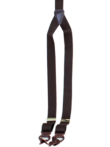 Scully Rangewear Brown Poly-Elastic Adjustable Y-Back Suspenders