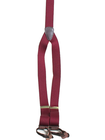 Scully Rangewear Burgundy Poly-Elastic Adjustable Y-Back Suspenders