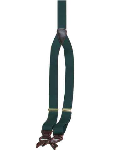 Scully Rangewear Hunter Green Poly-Elastic Adjustable Y-Back Suspenders