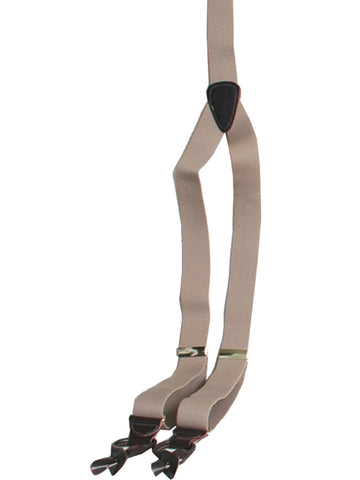 Scully Rangewear Tan Poly-Elastic Adjustable Y-Back Suspenders