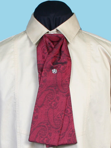 Scully Rangewear Mens Red Polyester Paisley Gentlemen's Tie