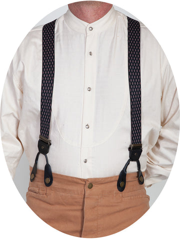 Scully Rangewear Black Elastic Steel Diamond Suspenders