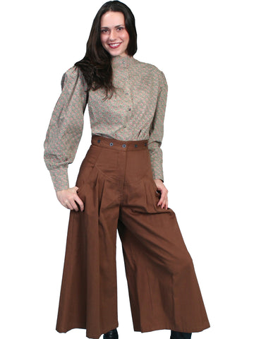 Scully Rangewear Womens Brown 100% Cotton Flare Brushed Twill Pants