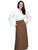 Scully RangeWear Womens Brown 100% Cotton Pleated Full Length Five Gore Skirt