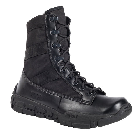 Rocky C4T Mens Black Leather Military Inspired Duty Boots