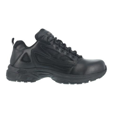 Reebok Womens Black Leather Work Shoes Rapid Response Duty Oxford