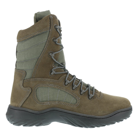 Reebok Mens Sage Green Suede Nylon Tactical Boots Fusion Max Soft Toe