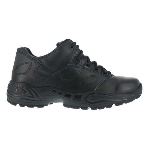 Reebok Womens Black Leather Work Shoes Postal Express Oxfords