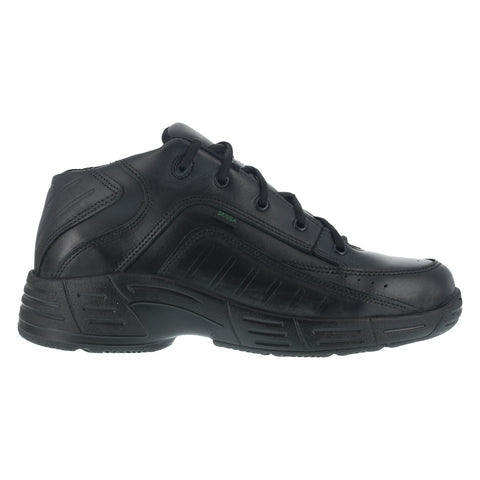 Reebok Mens Black Leather Work Shoes Postal TCT Athletic Oxford