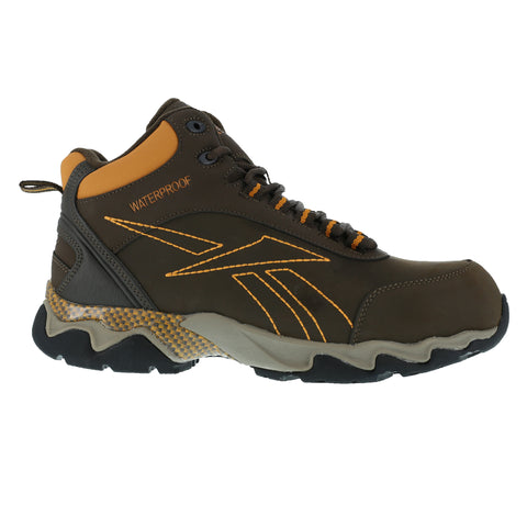 Reebok Mens Brown Leather WP Athletic Hiker Boots Beamer Composite Toe 6.5 W
