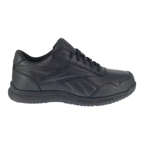 Reebok Mens Black Faux Leather Work Shoes Jorie LT SR Oxford