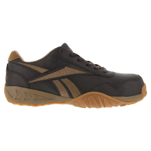 Reebok Womens Brown Leather Athletic Oxford Bema Composite Toe