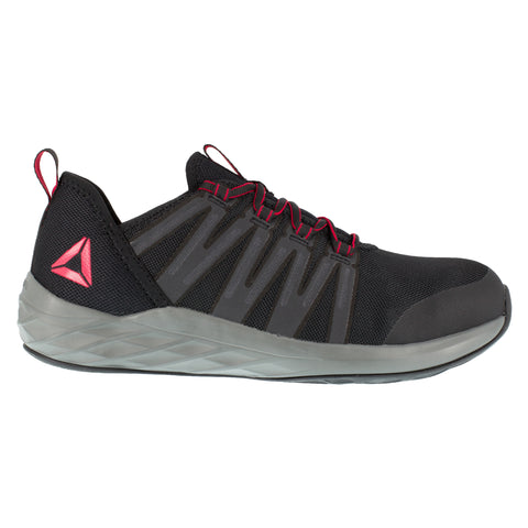 Reebok Mens Black/Grey/Red Mesh Work Shoes Astroride ST