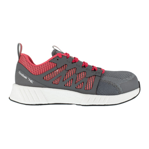 Reebok Womens Grey/Red Textile Oxfords Fusion Flexweave Work CT