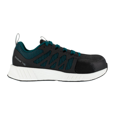 Reebok Womens Teal/Black Textile Oxfords Fusion Flexweave CT