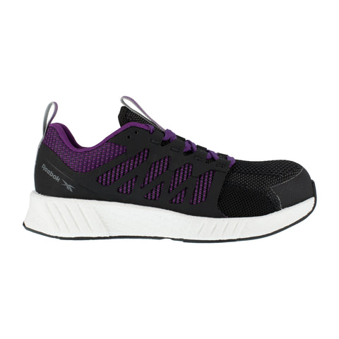 Reebok Womens Black/Purple Textile Oxfords Fusion Flexweave Work CT