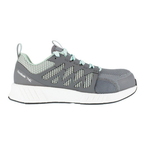 Reebok Womens Grey/Mint Green Textile Oxfords Fusion Flexweave Work CT