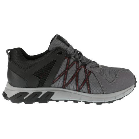 Reebok Mens Grey/Black Mesh Oxfords Trailgrip Work AT
