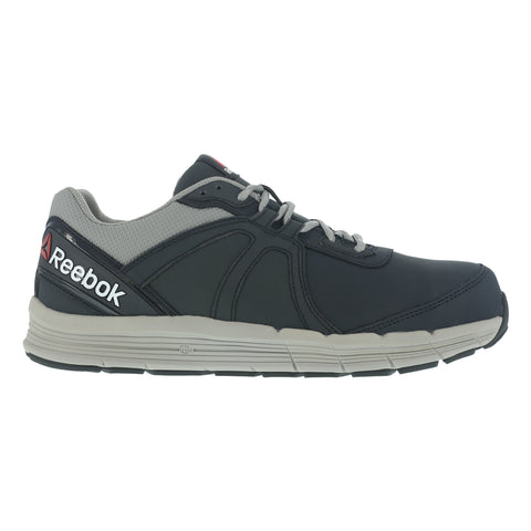 Reebok Mens Blue Leather Work Shoes ST Oxford Guide