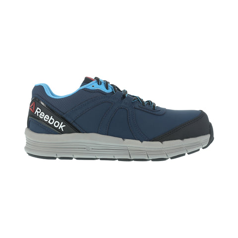 Reebok Womens Blue Leather Work Shoes ST Oxford Guide