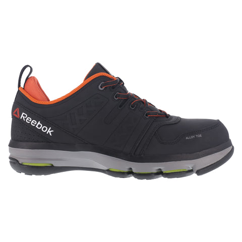 Reebok Mens Black Leather Work Shoes AT DMX Flex