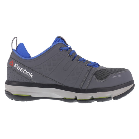 Reebok Mens Gray Leather Work Shoes AT DMX Flex