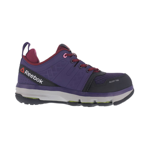 Reebok Womens Purple Leather Work Shoes AT DMX Flex