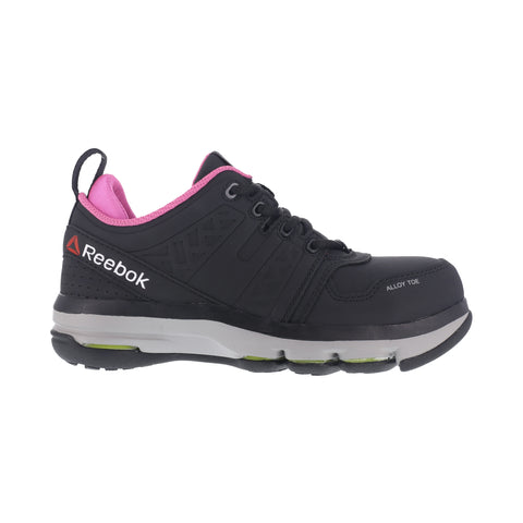 Reebok Womens Black Leather Work Shoes AT DMX Flex