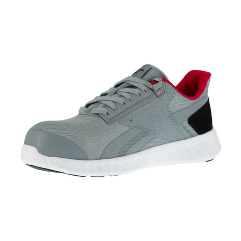 Reebok Mens Grey/Red Textile Oxfords Sublite Legend Work CT