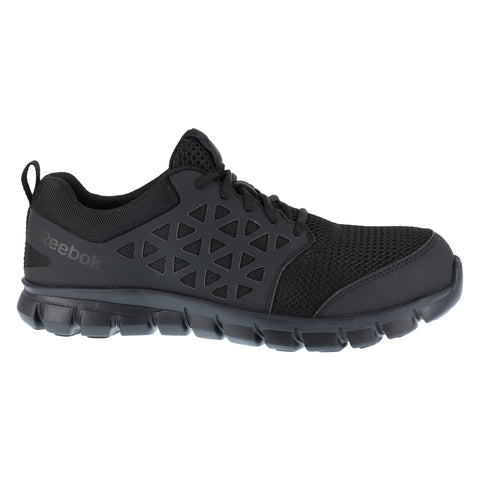 Reebok Mens Black Mesh Work Shoes Athletic Oxford ESD CT