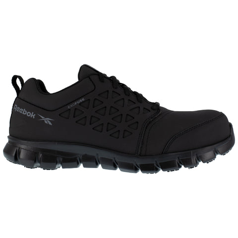 Reebok Mens Black Textile Oxfords Sublite Cushion Work CT Shoes