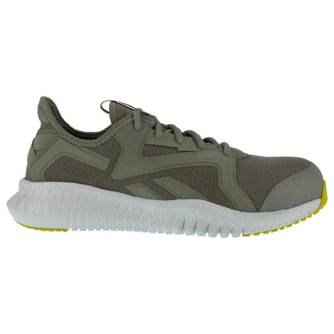 Reebok Mens Lime/Grey Textile Work Shoes Flexagon Athletic CT EH