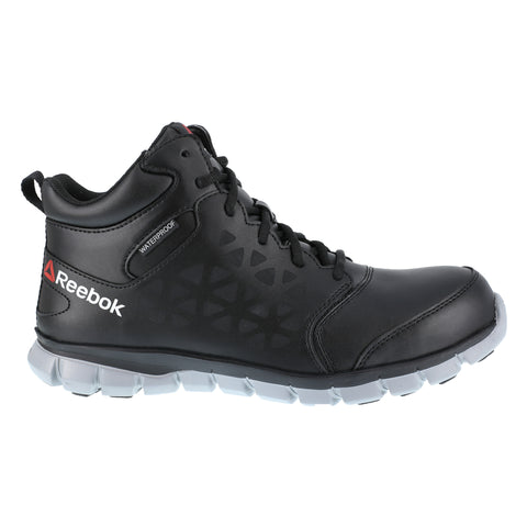 Reebok Mens Black Mesh Work Boots Athletic CT WP