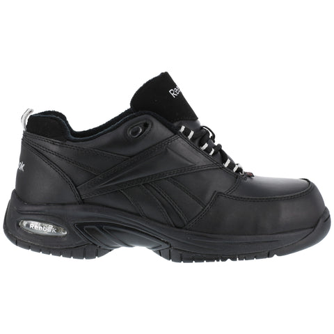 Reebok Womens Black Leather Athletic Oxford Tyak Composite Toe