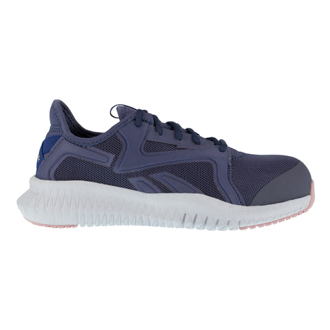 Reebok Womens Blue/Pink Textile Work Shoes Flexagon Athletic CT EH