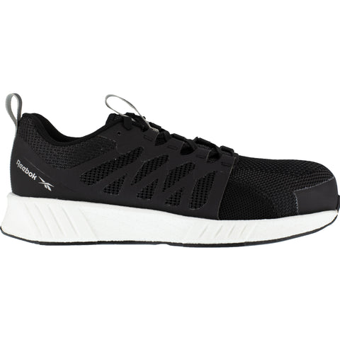 Reebok Mens Black/White Textile Oxfords Fusion Flexweave Work CT