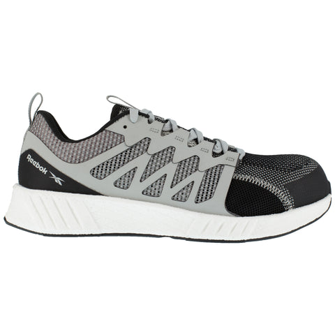 Reebok Mens Grey/White Textile Oxfords Fusion Flexweave Work CT