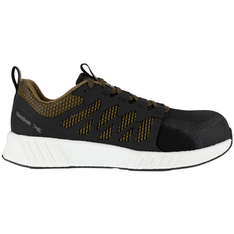 Reebok Mens Sage/Black Textile Oxfords Fusion Flexweave Work CT