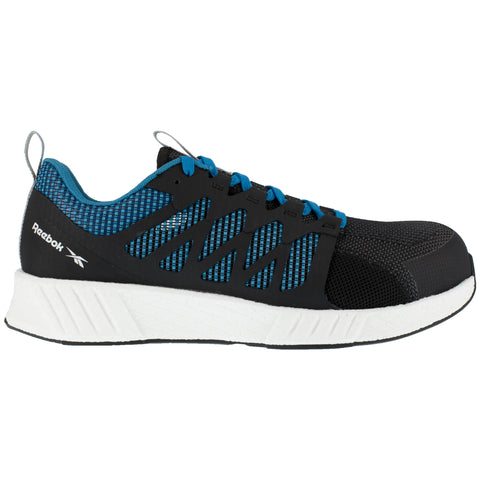 Reebok Mens Black/Blue Textile Oxfords Fusion Flexweave Work CT