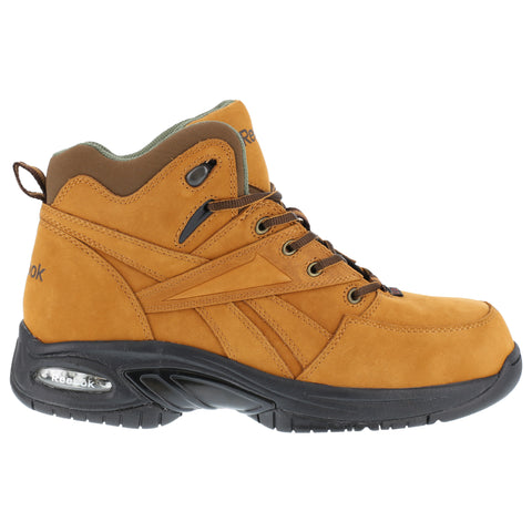 Reebok Mens Golden Tan Leather Hiker Boots Tyak Composite Toe
